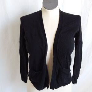 AT LOFT Black Open Cardigan Wrap PM